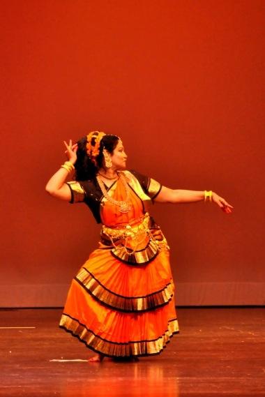 Guru Phane J Sen performing Bharatanatyam